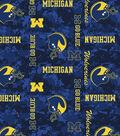 University of Michigan Wolverines Fleece Fabric -Digital