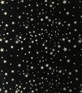 The Witching Hour Halloween Velvet Fabric 57\u0022-Glitter Stars