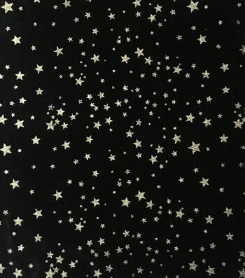 "The Witching Hour Halloween Velvet Fabric 57""-Glitter Stars"