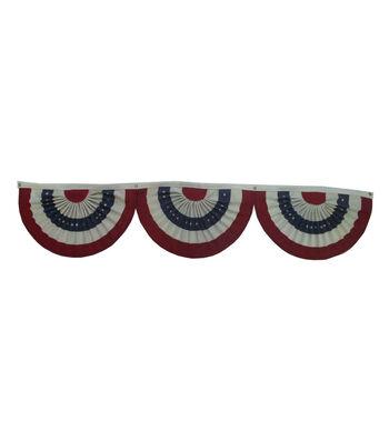Americana Patriotic Burlap Bunting-Stars & Stripes