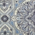 Anti-Pill Plush Fleece Fabric-Denim Patch Medallion