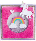 Sizzix Thinlits Textured Impressions By Lindsey & Jen-Unicorn & Rainbows