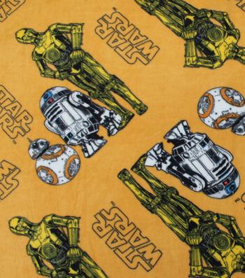 Star Wars: The Last Jedi Fleece Fabric -Droids