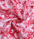 Check It Jacquard Fabric 57\u0022-Red & White Floral