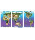Animal Magnetism Magnetic Wildlife Map Puzzle Bundle, Set of 3