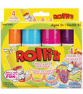 2.2 oz. Roll-It Paint-4PK/Brights