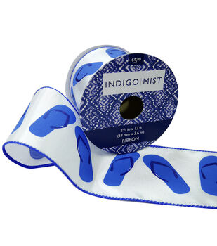 Indigo Mist Ribbon 2.5''x12'-Flip Flops