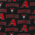 Arizona Diamondbacks Fleece Fabric -Logo
