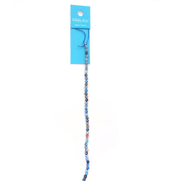 hildie & jo Agate Strung Beads-Blue