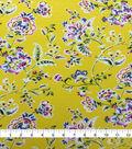 Knit Prints Rayon Spandex Fabric-Yellow Folk Floral