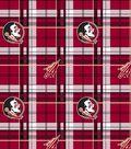 Florida State University Seminoles Fleece Fabric 60\u0022-Plaid