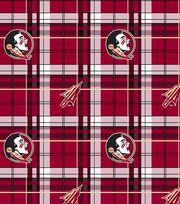 "Florida State University Seminoles Fleece Fabric 60""-Plaid, , hi-res"