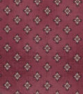 Vintage Cotton Fabric -Detailed Diamonds on Red