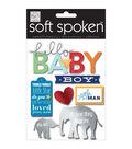 Me & My Big Ideas Soft Spoken Themed Embellishments-Hello Baby Boy