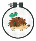 Learn-A-Craft Hedgehog Counted Cross Stitch Kit-3\u0022 Round 11 Count