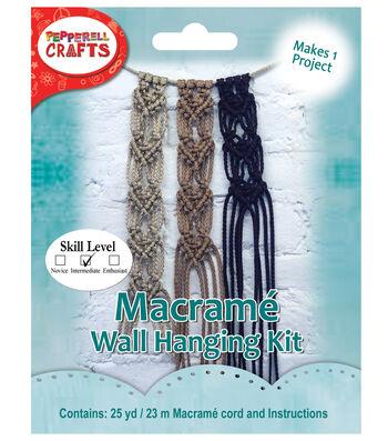 Pepperell Crafts Mini Macrame Hanging Heart Kit