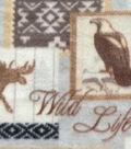 Anti-Pill Fleece Fabric 59\u0022-Wild Life Patch