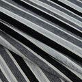 Multi-Purpose Décor Fabric-Black & Gray Stripe