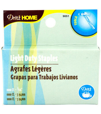 "Dritz Home 0.31"" Light Duty Staple Gun Refills 1000pcs"