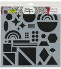 The Crafter\u0027s Workshop Julie Fei-Fan Balze 12\u0027\u0027x12\u0027\u0027 Stencil-Shapes