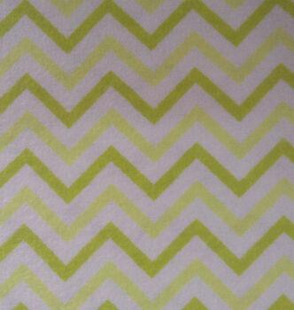 Snuggle Flannel Fabric -Chevron Green