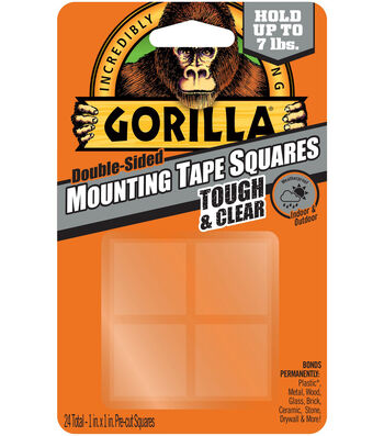 The Gorilla Glue Company 24 pk 1''x1'' Double-sided Mounting Tape Square