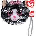 Ty Inc. Fashion Reversible Sequin Kiki Cat Wristlet