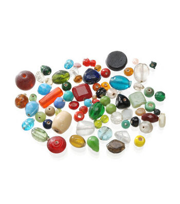 Darice Glass Beads-16oz/Multi