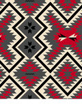 Anti-Pill Fleece Fabric 58\u0022-Southwest Red Grey