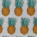 Luxe Flannel Fabric-Yellow Pineapple