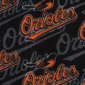 Baltimore Orioles Fleece Fabric -Packed Logo