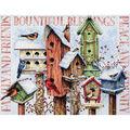 Winter Housing Counted Cross Stitch Kit-18\u0022X15\u0022 14 Count