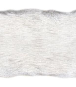 """Simplicity Trims-4"""" White Faux Fur"""
