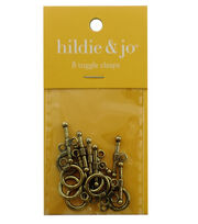 Blue Moon Findings Clasp Metal Toggle Small Wrap Ball Antique Gold, , hi-res