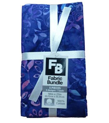 Fat Quarter Cotton Fabric Bundle 18''x21''-Purple Batik