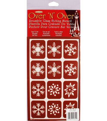 Armour Products Over 'N' Over Reusable Glass Etching Stencil-Snowflakes