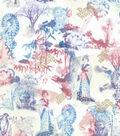 Asian Inspired Cotton Fabric 43\u0027\u0027-Metallic Garden Parasol Walk