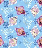Disney Frozen Fleece Fabric -Sisters Frame, , hi-res