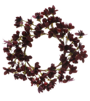 Blooming Autumn Mini Wreath-Red