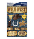 Reminisce Signature Dimensional Stickers Western