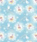 Disney Frozen Cotton Fabric -Elsa Metallic Badge