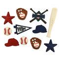 Jesse James Dress It Up Sports Button Embellishments-Baseball