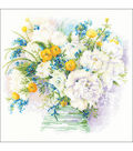 RIOLIS 11.75\u0027\u0027x11.75\u0027\u0027 Counted Cross Stitch Kit-Watercolor Peonies