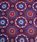 Silky Crepe Fabric 53\u0022-Purple Multi Kaleidoscope