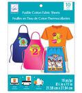 June Tailor 8.5\u0027\u0027x11\u0027\u0027 Fusible Cotton Fabric Sheet Value Pack