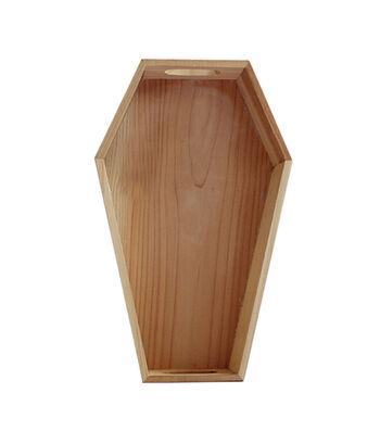"Maker's Halloween Wood Décor-12"" Coffin Tray"