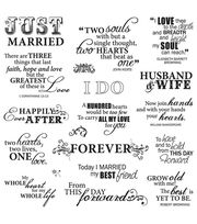 Fiskars Quotes Clear Stamps Just Married, , hi-res