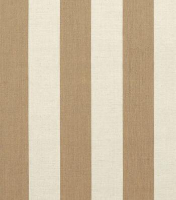 "Sunbrella Outdoor Stripe Fabric 54""-Maxim Heather Beige"