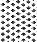 Nursery Flannel Fabric -Black & White Aztec