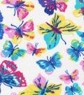 Anti-Pill Fleece Fabric 59\u0022-Pastel Butterflies